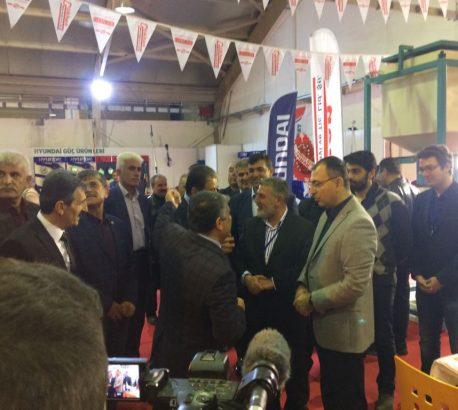Sayın Valimiz Mustafa TOPRAK standımızı ziyaret etti.